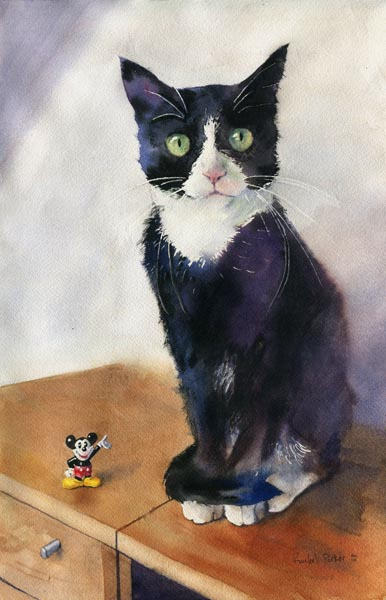 Mickey and Friend, cats in contemporary art