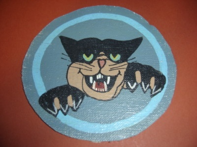 WWII USAAF Black Cat 418 Night Fighter SQDN Patch, cats in war