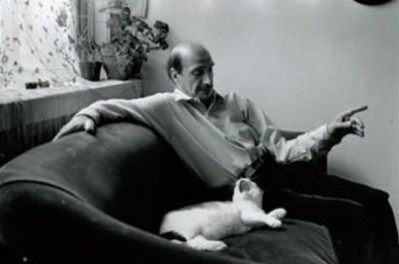 Edouard Boubat, autoportrait au chat, New York 1989