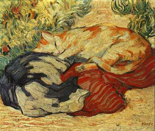 Cats on a Red Cloth 1909