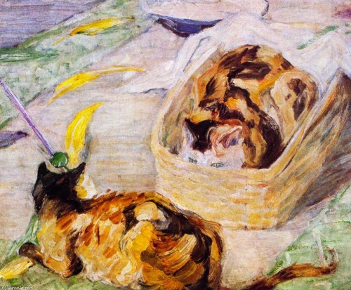 Franz Marc Cat Basket, Study of Cats III