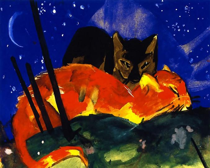 Franz Marc Two Cats 1913 Museum Kochel, Germany