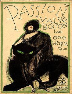 Jacques Lehmann Nam, cat poster 1921