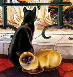 siamese and black cat 1974, Lehmann Nam