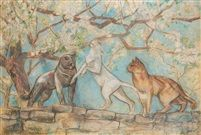 Batifolage félin, cats in art, french cat artists