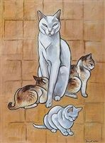 Chatte et chatons