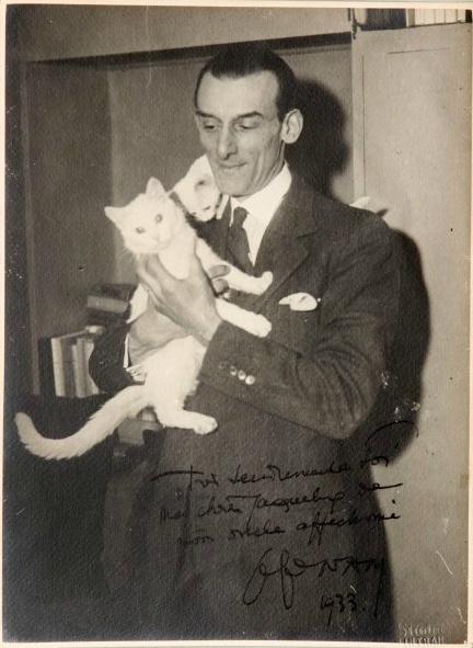 Jacques Lehmann Nam with Cat