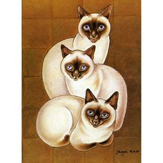 siamese cats in paintings