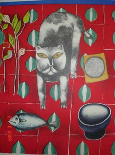 F. Gentilini cat and fish 1970