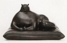 Botero cat sculpture 1976