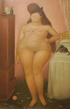 F. Botero In the Bedroom, cats in art