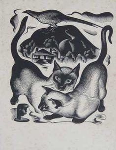Siamese Cats 1936-37, A. Miller Parker