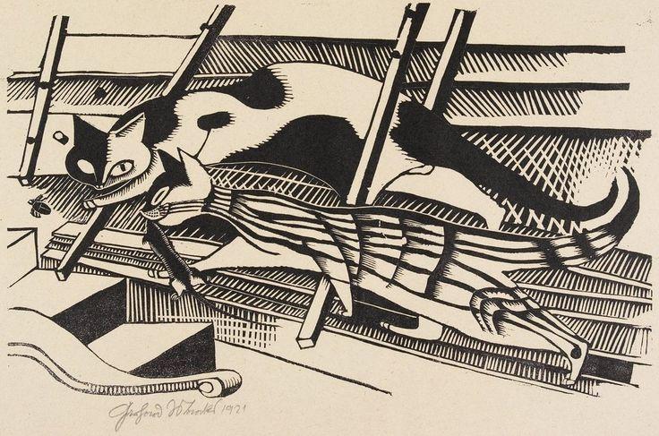 Gerhard Marcks Die Katzen im Dachboden (Cats in the Attic) 1920