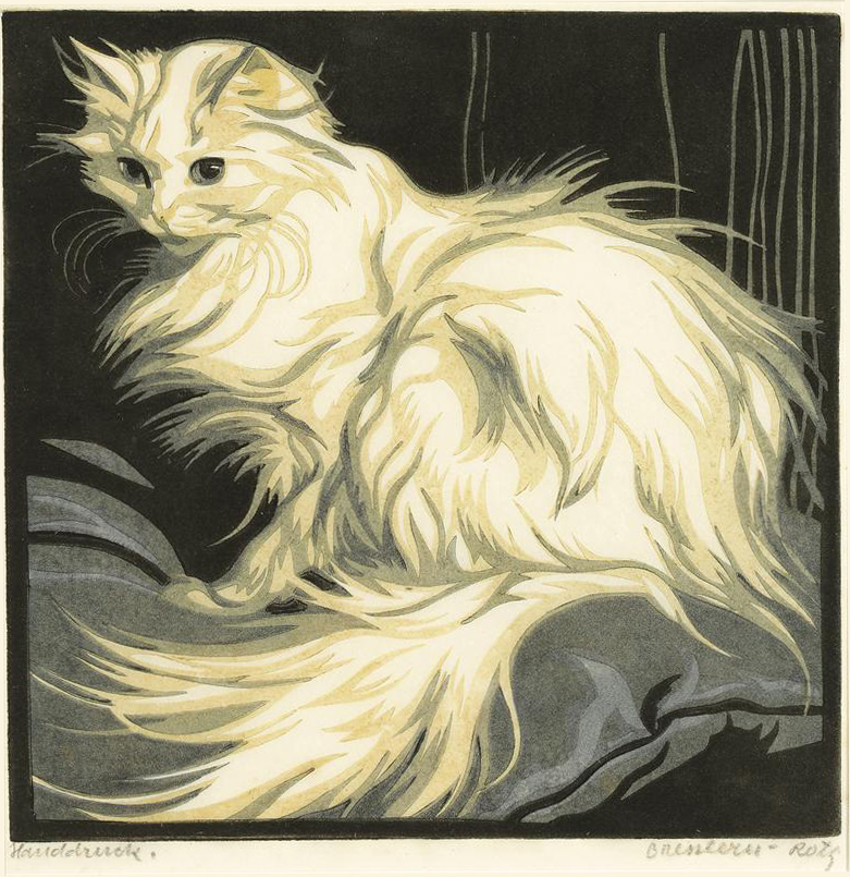 Norbertine Bresslern-Roth, angora cat