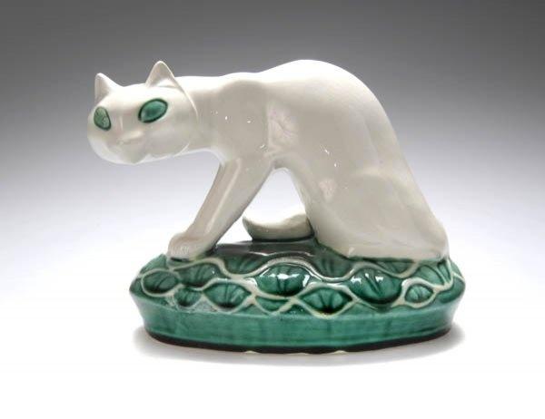 G Marcks, ceramic cat, cats in sculpture