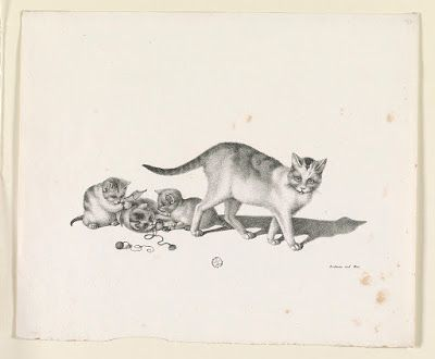 Gottfried Mind Mother and kittens 3