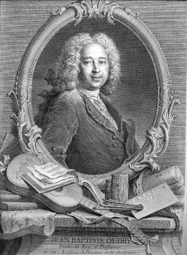 Jean-Baptiste Oudry, etching made by his wife, Marie-Marguerite Froissé, cats in art cat paintings
