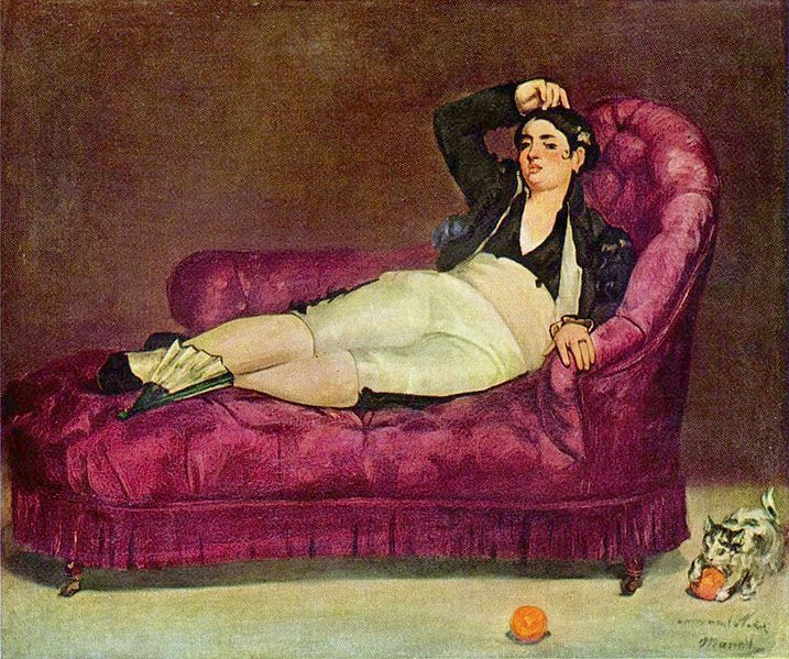 Manet Woman Reclining in Spanish Costume Yale University Art Gallery
