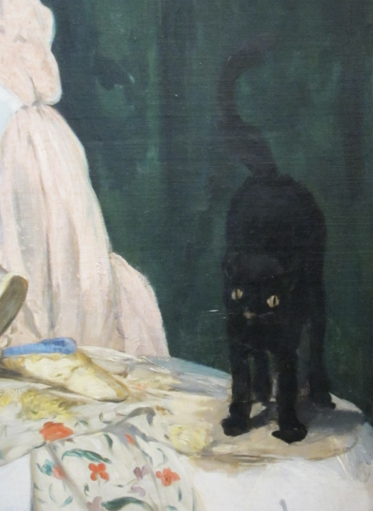 Detail of Black Cat Olympia