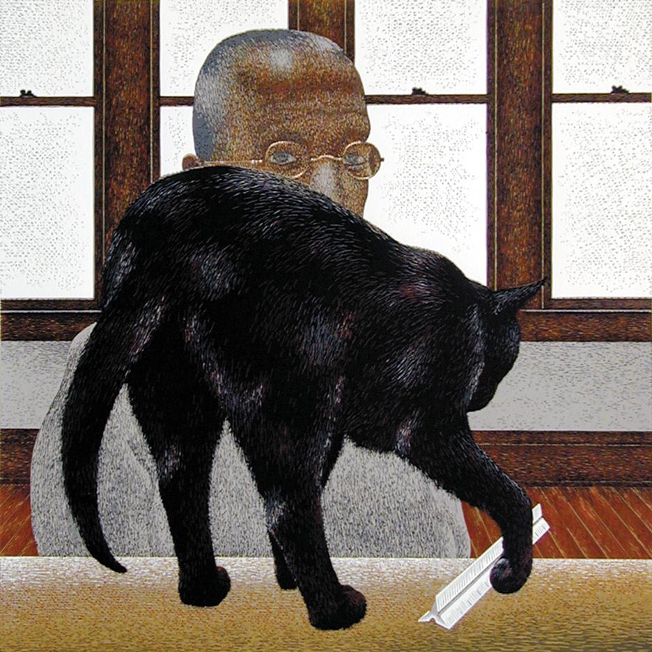 Black Cat 1996, A. Colville, black cats in art