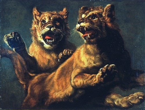 Snyders Two Young Lions Jumping