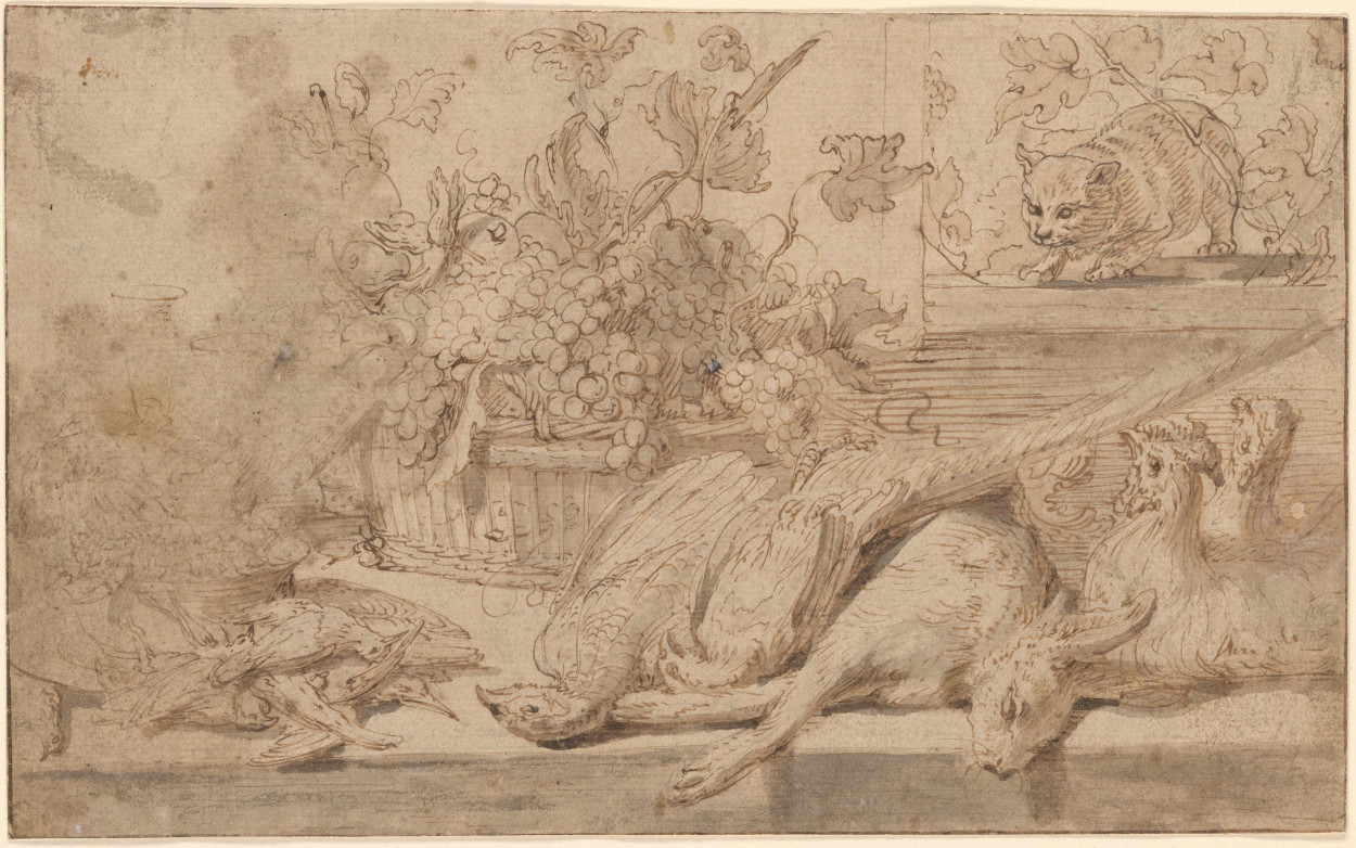 Frans Snyders Basket of Grapes
