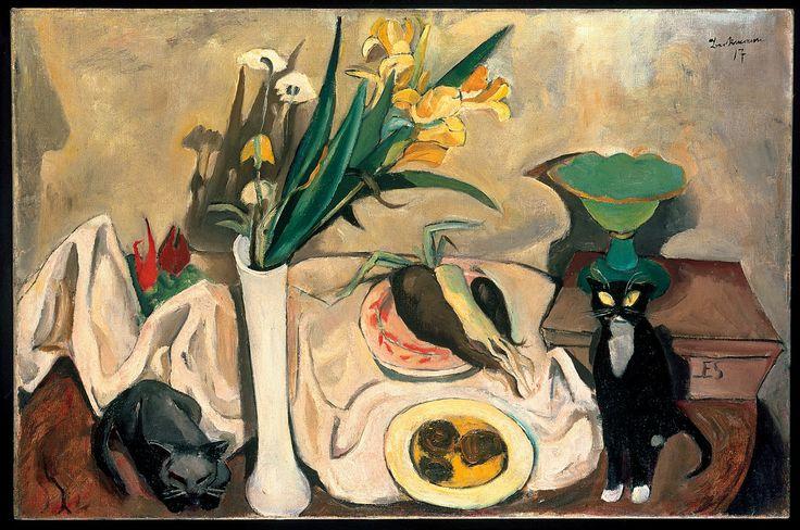 Still Life With Cats, M Beckmann, 1917,