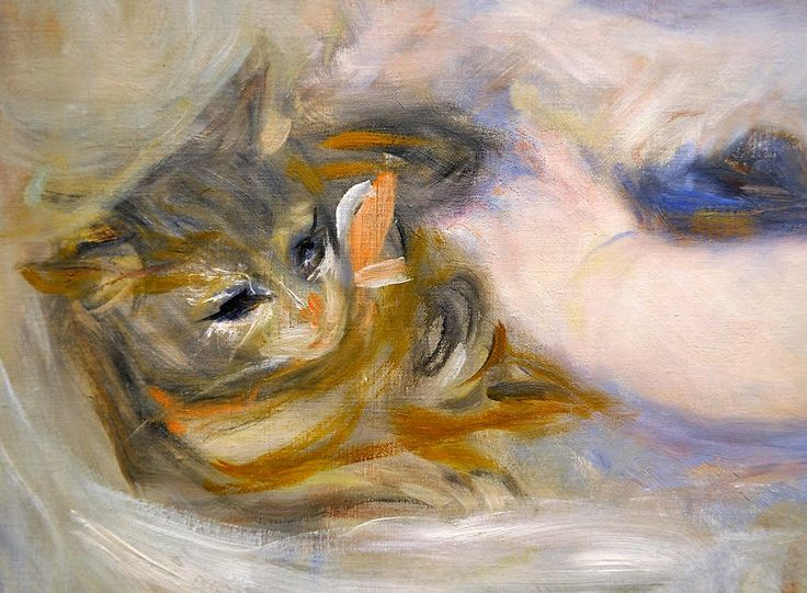 Renoir (French, 1841-1919) - Mother and Child (detail), ca. 1895