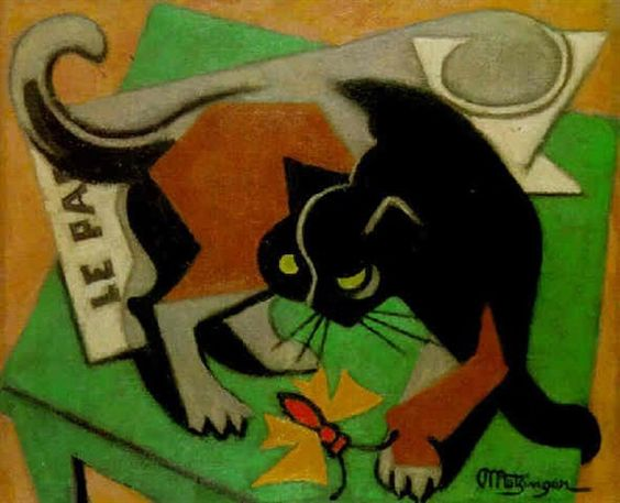 Metzinger Cat and Butterfly 1940