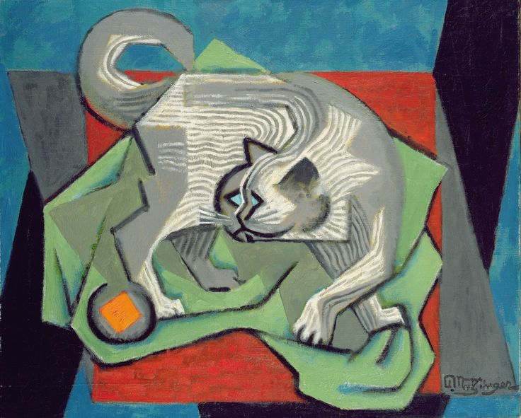 Jean Metzinger (French, 1883-1956) - The cat, c. 1915