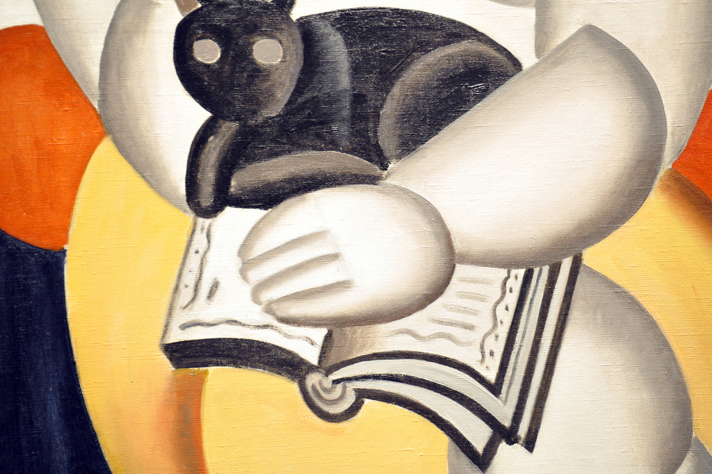 Fernand Leger Woman and a Cat detail 1921