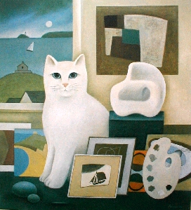 The Artist's Cat, Martin Leman, art cats
