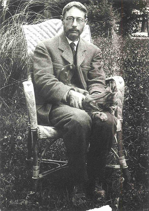 Pierre Bonnard with Cat