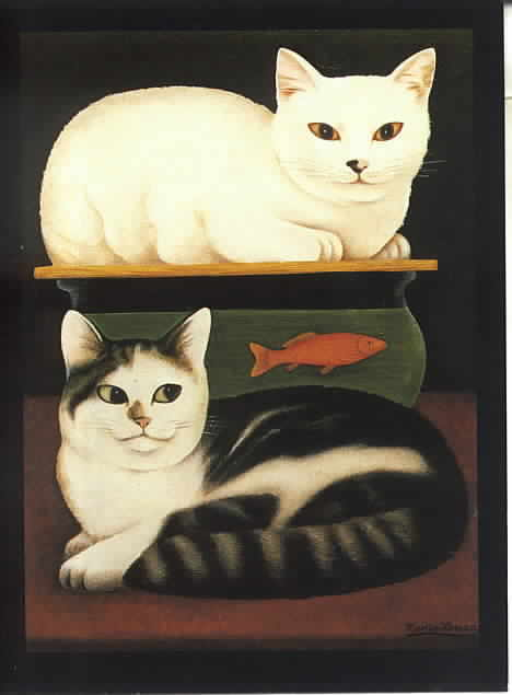 Cats and Goldfish, Martin Leman