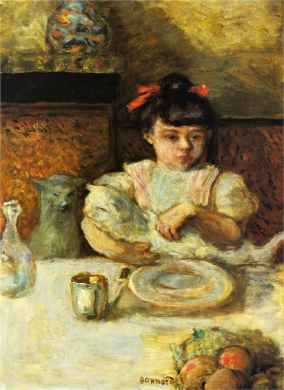 Child and Cats, Pierre Bonnard