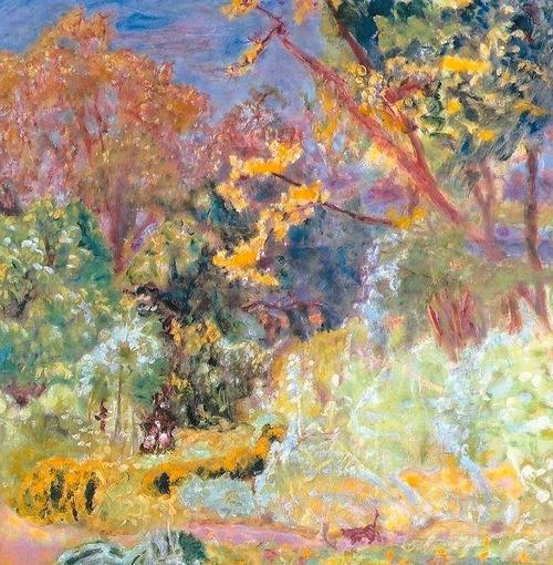 In the Garden, Pierre Bonnard, cat art
