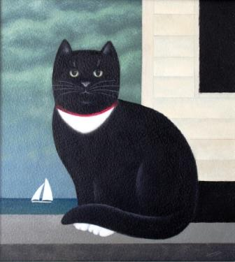 Martin-Leman-Sailor, cat art, cat paintings