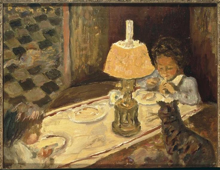 Pierre Bonnard (1867-1947) - Le Déjeuner des Enfants. Oil on Canvas. Circa 1897
