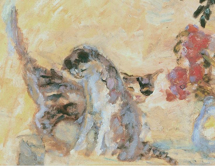 Detail Cats on the Railing<br /> 1909
