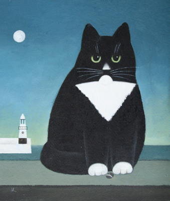 St. Ives, M. Leman, cat art, cat paintings