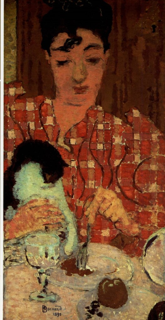 Woman with Black and White Cat, P. Bonnard