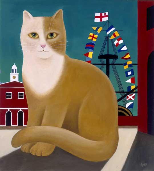 Horatio, M. Leman, cat paintings, cat art