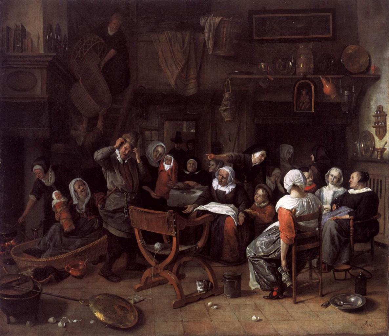 Twin Birth Celebration 1668 Jan Steen