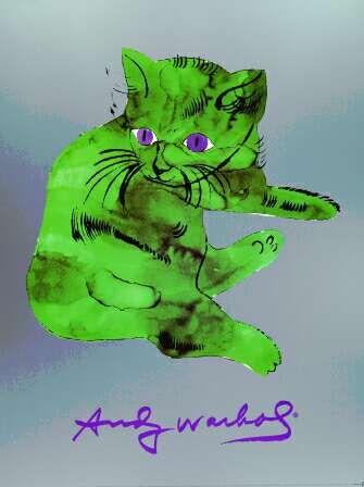 Andy Warhol, Green Sam kitten