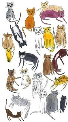 Andy Warhol, multiple cats