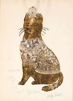 Andy Warhol, Gold Cat 2