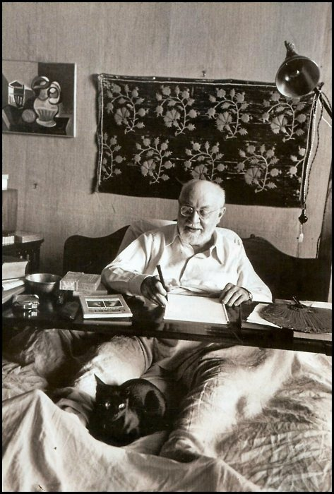 Henri Matisse & assistant, photo by Robert Capa