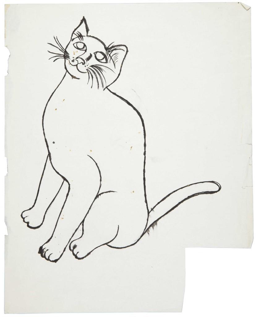 Andy Warhol, Sam Looking Up, sketch
