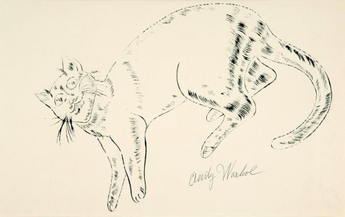 Andy Warhol cats, sketch, cat art