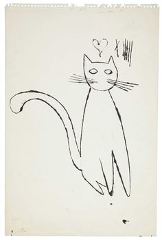 Andy Warhol, cat sketch